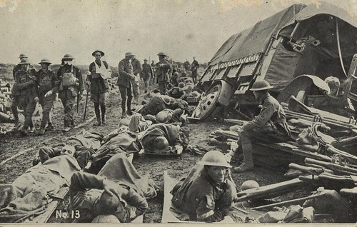 After the battle on the Menin Road, France, 1917