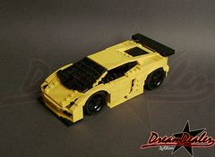 Lamborghini Gallardo racing edition (ZetoVince) Tags: car yellow greek lego vince racing vehicle lamborghini stubby gallardo blackrims stubbies zeto 10wide pullbackmotor zetovince dreamdealer