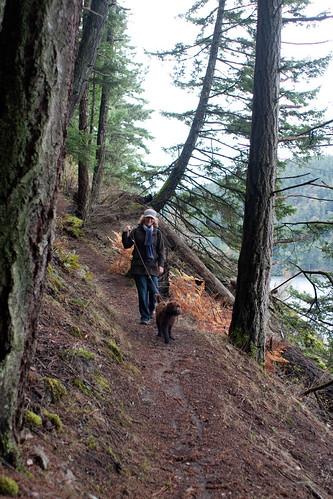 Ewok leading on the trail