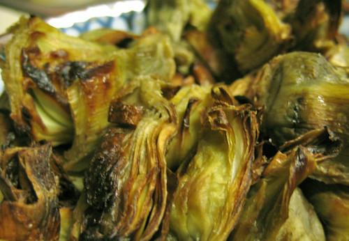 Cooked Artichoke Hearts Roasted artichoke hearts