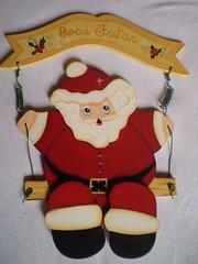 Enfeite de porta natalino (Lilian Andrade **) Tags: mdf decoupage pinturacountry pinturadecorativa pinturaemmdf