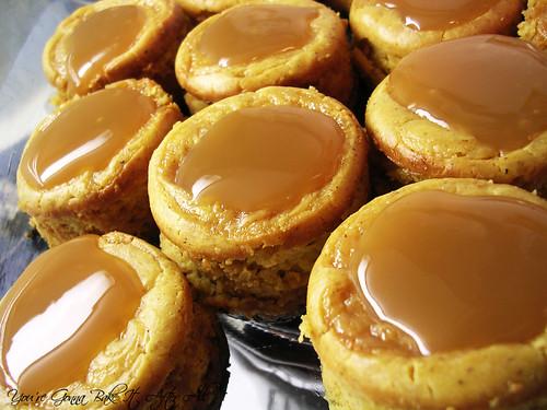 ... Gonna Bake It After All: Black Bottom Caramel Pumpkin Cheesecake Bites