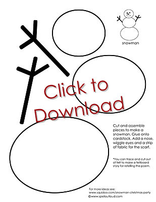 Snowman Ornament printable sewing instructions & pattern