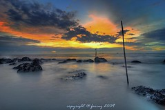Stand Still (mr_fairuz) Tags: light sunset sky duck slow shutter stick awan klang malam pantai jeram senja cahaya matahari siang fairuz remis zilzal