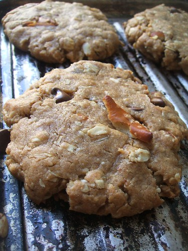 peanut butter oatmeal pretzel chocolate chip cookies