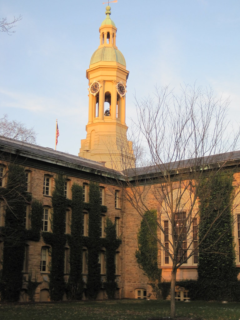 Nassau Hall in early December
