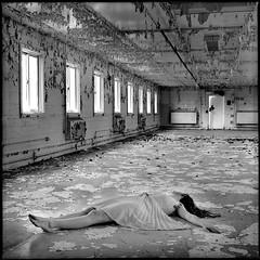 . (silke s.) Tags: selfportrait abandoned 120 6x6 film analog mediumformat naturallight prison peelingpaint ilford leftbehind hasselblad500cm beautifuldecay autaut