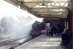 train-4 (zaphad1) Tags: great central railwway gcr loughborough station steam train track bygone era old rail locomotive pentax sp500 leicestershire east midlands uk railway zaphad1 creative commons