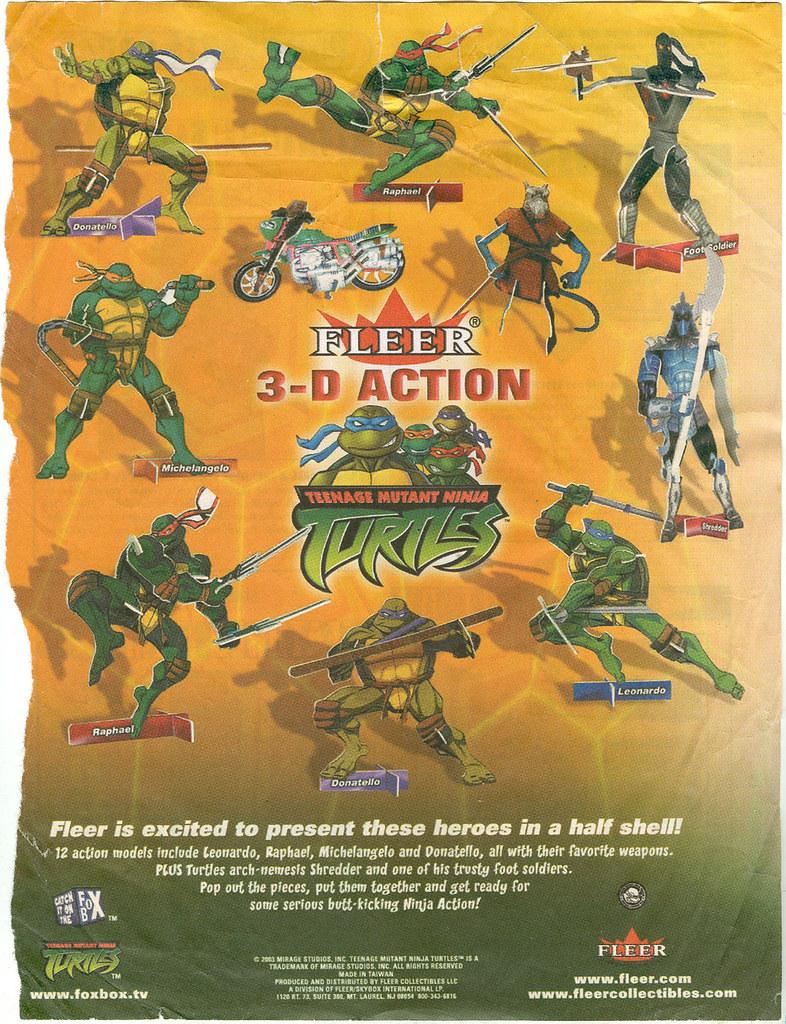 "FLEER  3-D ACTION ""Teenage Mutant Ninja Turtles"" // PREVIEWS SOLICITATION PAGE  (( June 2003 ))"