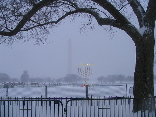 Menorah and Washington Monument