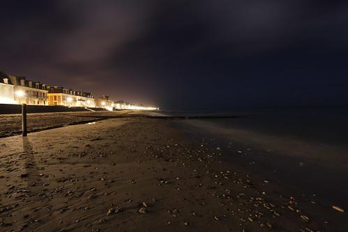 La plage de Saint Aubin sur mer, vers l'Ouest