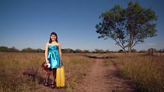 Cesna (Jan Paul Yap) Tags: birthday bear woman tree girl beautiful lady pretty pentax sister luggage dirtroad 18 debut eighteen emptylot bluedress censa da1650 k200d
