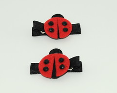 Red Ladybug Clips