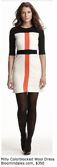 Milly Colorblocked Wool Dress - Prints - Bloomingdales.com