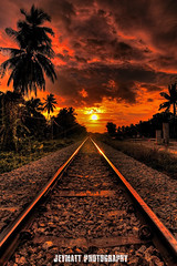 A Long Journey (JeyMatt Photography) Tags: sunset vacation holiday architecture sunrise landscape architectural journey railwaytrack hdr