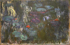 "Claude Monet. Water Lilies. 1914-26 French, 1840-1926 Oil on canvas. 51 1/4"" x 79"" (130.2 x 200.7 cm). The Metropolitan Museum of Art, Gift of Louise Reinhardt Smith, 1983. MOMA, NYC.jpg (renzodionigi) Tags: nyc newyork painting contemporaryart modernart w moma waterlilies monet claude met impressionist 1858 arthistory impresionism pittura seerosen nymphéas ""daniel ""catalogue raisonné"" wildenstein"""