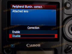 1D MarkIV Pheripheral Illumin.Correc. to Lens