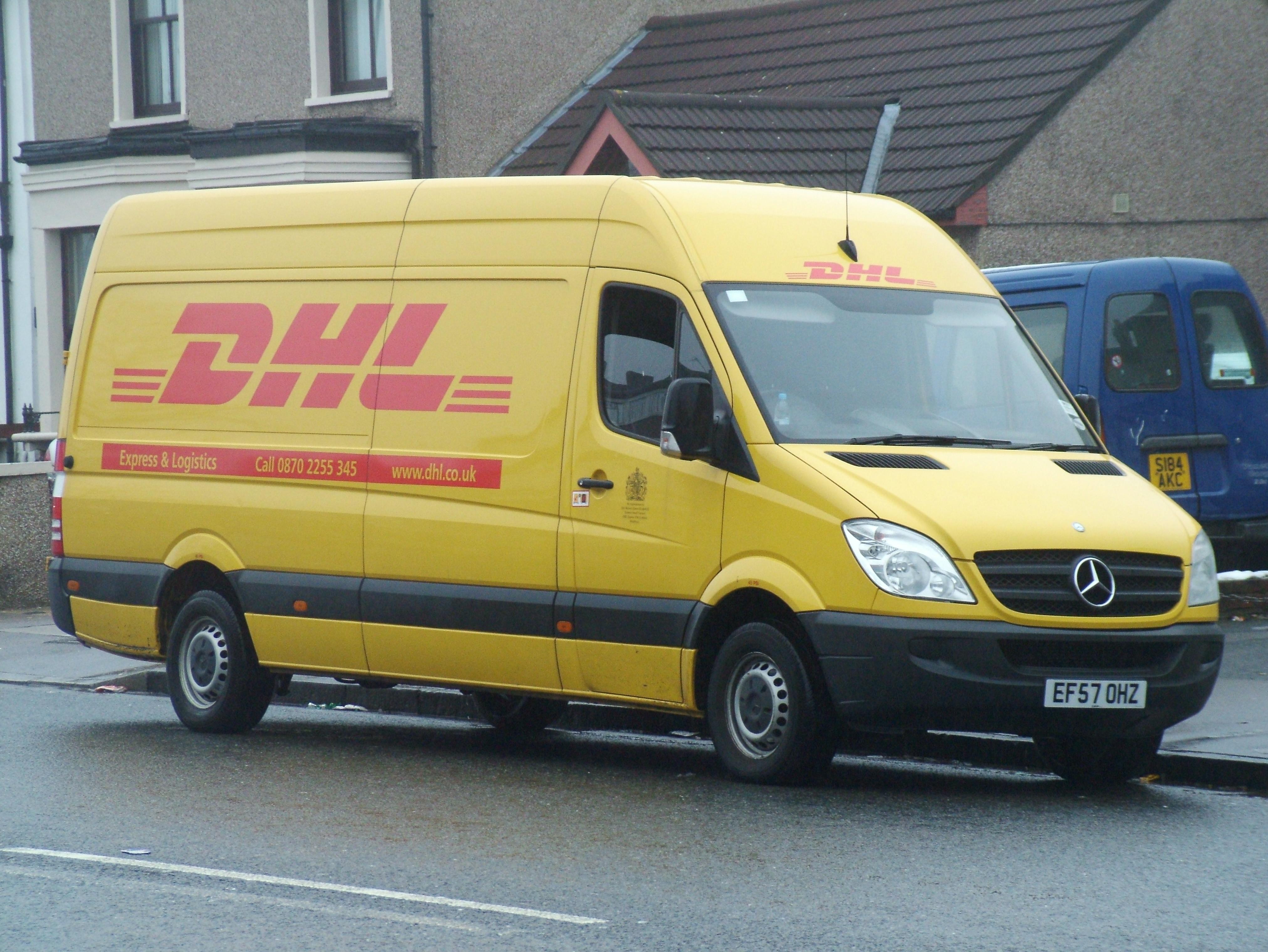 Yellow Mercedes Sprinter