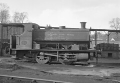 Andrew Barclay 2259 NCB Kinniel No 4 19 April 1965 (pondhopper1) Tags: blackandwhite white black industrial steam railways ncb uksteam andrewbarclay 040st
