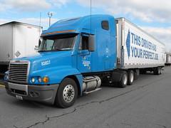 "This Driver Has Your Perfect Job (Steve ""Tuco"" Jacobs) Tags: bridge truck nebraska trucker crete omaha mack trucking peterbilt kenworth shaffer freightliner tuco cabover filthyfew nydm fujifinepixs1000fd diabolicpossession"