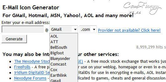 E-Mail Icon Generator