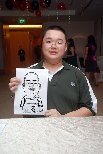 caricature live sketching for birthday party 220110 - 3