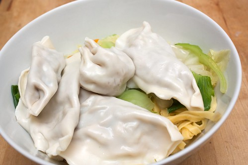 noodle soup with wontons