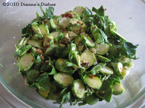 Spicy Brussels Sprouts: Tossed and Ready to Cook