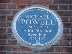 Photo of Michael Powell blue plaque