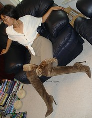 Roberto Cavalli Over the Knee Boots (Foxywalk) Tags: portrait brown leather lady asian boots chinese heel  robertocavalli thighhigh overtheknee