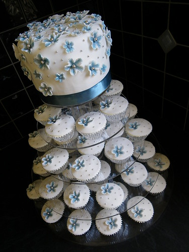 Flickriver Photoset Blue Silver White Wedding Cake By