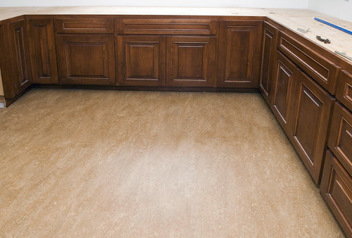floor and cabinets
