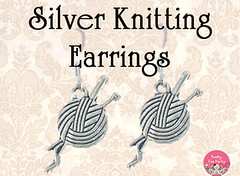Silver Knitting Earrings