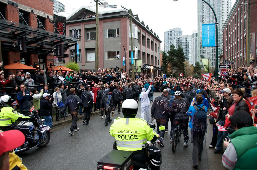 Torch Passing Through Yaletown