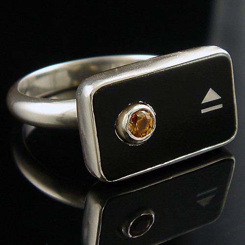 Eject Ring with Topaz