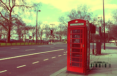 (- M7D . S h R a T y) Tags: street uk morning london unitedkingdom telephone parklane redtelephonebox wordsbyme london2010 allrightsreserved