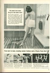 Playtex panty brief ad, 1950s (genibee) Tags: woman vintage magazine panty advertisement tennis changing locker 1950s brief hygiene playtex pantybrief pantygirdle swimning