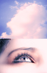 (`dreamy) Tags: pink blue red sky eye love ice girl look clouds purple heart dreaming stare gaze  galb cuttoncandy canon1000