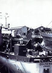 Image titled John McGarigle, foreman painter, Dry Dock, Fairfields, 1950s.