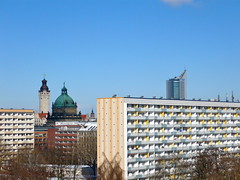 Rundumblick (superclaerchen) Tags: gap leipzig ddr rathaus bundesverwaltungsgericht uniriese clarazetkinpark honecker mielke gstehausampark