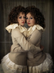 Attached (Denyse Rizzo Photography) Tags: woman beauty fashion sisters photography twins surreal portraiture elegant retouching tutu rizzo strobe identicaltwins denyse nikond200 elinchrome