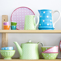 Polkadots (Craft & Creativity) Tags: color ikea colors spring interior polka shelf polkadots teapot dots pitcher shelves pitchers styling greengate