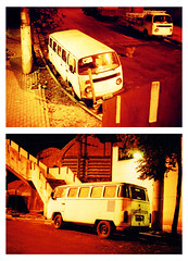 Double view (Leo Uehara) Tags: night 35mm xpro lomography diptych toycamera velvia crossprocessing van expired smenasymbol