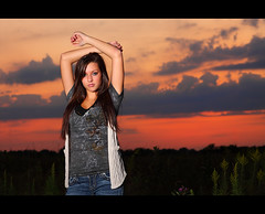 Ashley ~ Senior Rep 2 (~Phamster~) Tags: sunset cactus senior alienbee vagabond v4 85l beautydish strobist