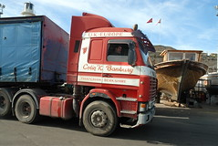TRUCKING IN CYPRUS (Claude  BARUTEL) Tags: sea truck turkey island mediterranean transport cyprus partition divided trucking scania