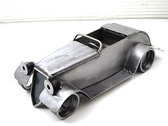 Metal Ford Roadster sculpture