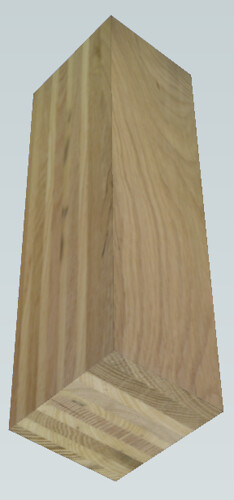 3D render of wood block