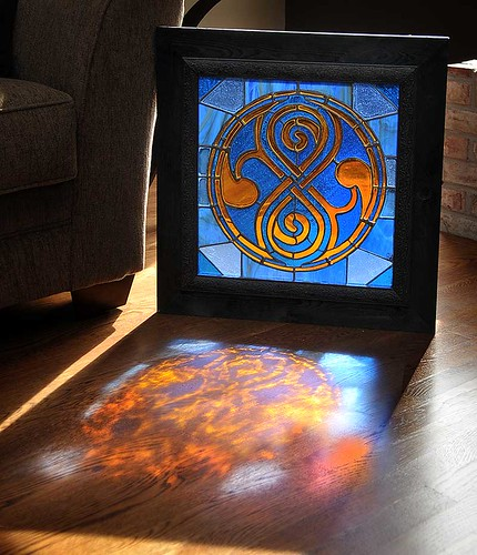 Seal of Rassilon stained glass window