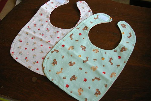 Squee! Bibs from Maritza!