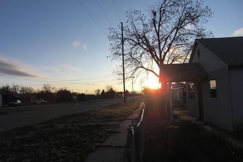 Sunrise & house